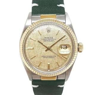Rolex Oyster Perpetual Datejust Ref 1601 Linen Dial Vintage Watch (Year 1970)
