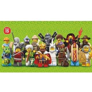 Lego 71008 Minifig Series 13 Set of 16 Minifigures Repacked Free Registered Mail Brand New
