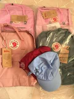 🚚 QYORP Kanken bags, ASSC caps, AA Jacket: MOVING OUT SALE