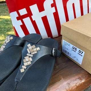 Fitflop Skinny Crystal US7 pandora prada lacoste coach kate spade bag sandals slippers birkenstock