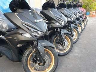 New Yamaha Aerox agent unit, keyless, ABS, ready stock