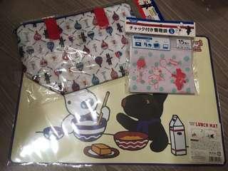 ⏰出清特價中~日本帶回 卡斯柏便當袋、餐墊、小物夾鏈袋🈴️售