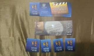 華納威秀電影票有4張