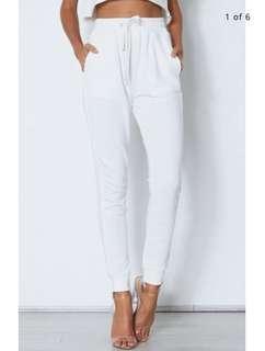🚚 authentic white fox sweatpants