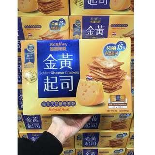 🚚 💖Irena好市多代購💖KENJI健司 健康時刻 金黃起司餅乾  郊遊 點心 零食 起司 奶油 胚芽