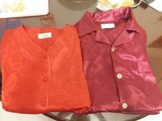 leona男女紅睡衣各1套(購至專門店)有單