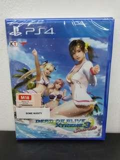 (Brand New) PS4 Dead or Alive Xtreme 3: Scarlet / R3