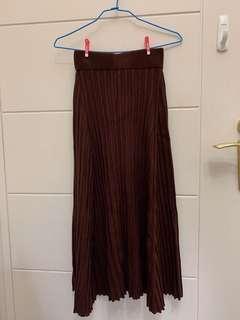 韓貨坑條針織裙