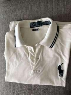 🚚 Polo by Ralph Lauren Men's Polo Tee - Pro fit white shirt