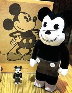 Bearbrick Mickey 布版400%+100%