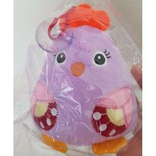 🚚 Purple Chickie Plush Toy with Suction Cup
