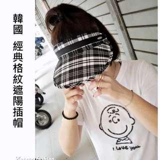 現貨+預購✦💥許願商品💥韓國🇰🇷熱賣再開團 經典格紋遮陽插帽✦