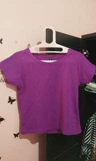 Crop Top purple