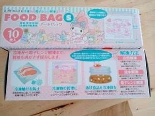 🚚 日本三麗鷗 sanrio 食物保鮮袋 夾鏈袋 生鮮袋