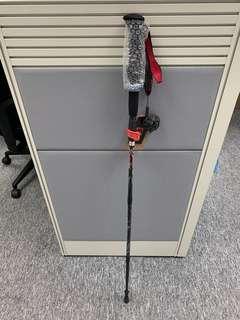 碳纖維複合航空鋁摺合行山杖