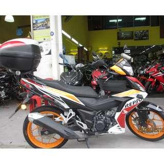 Honda RS150 2017  D/P $500 or $0 With out insurance (Terms and conditions apply. Pls call 67468582 De Xing Motor Pte Ltd Blk 3006 Ubi Road 1 #01-356 S 408700.
