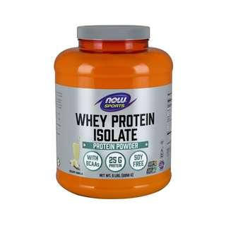 🚚 Now Foods, Sports, Whey Protein Isolate, Natural Vanilla, 5 lbs. (2268 g)