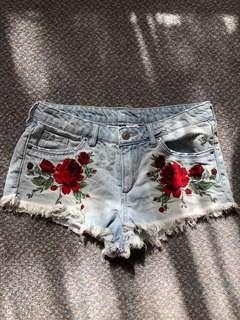 Denim shorts fits size 6