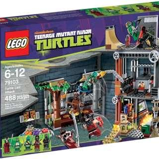 Lego 79103 TMNT Teenage Mutant Ninja Turtles Turtle Lair Attack Brand New
