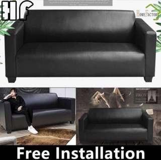 🚚 Sofa/PU sofa/Sofa with foot pedal/Type N(Black,Brown)