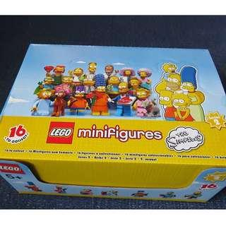 Lego 71009 Minifig Simpsons Series 2 Full box of 60 minifigures In Stock Brand New