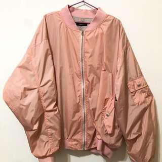 🚚 🌸厚磅粉紅色飛行外套🧥