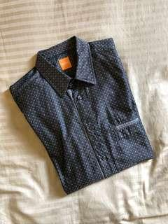 Hugo boss polka dot shirt