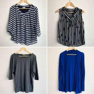BUNDLE 2x tops, cardigan and a jumper size M, 12