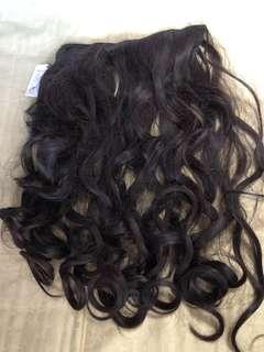 Brunette Wavy hair extension