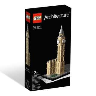 Lego 21013 Architecture Big Ben UK England Brand New
