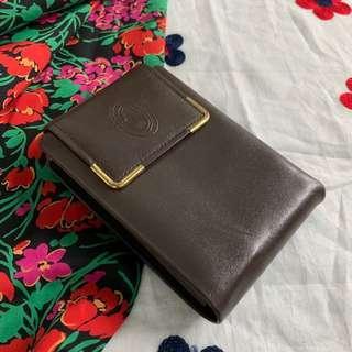 Vintage Leather olive colour wallet