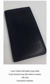 LV leather long wallet
