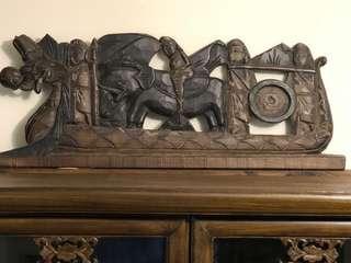 大笨象木雕刻Solid wood sculpture