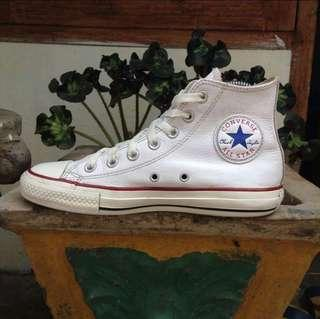 ORI Converse White Leather Shoes,
