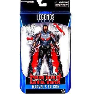 MISB Marvel Legends Captain America Civil War Falcon Action Figure
