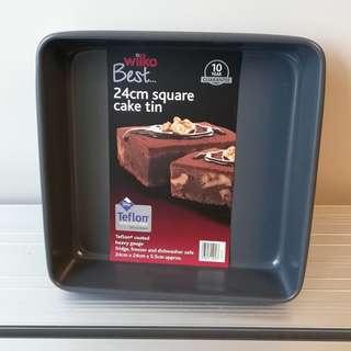 Teflon 24cm Square Cake Tin (Brand New)