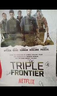 Selling triple frontier auto poster