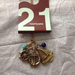 F21 Charms Necklace - Nautical