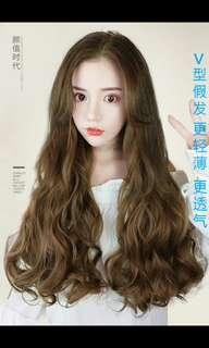 🚚 (NO INSTOCKS!)Preorder Wavy curly long V shape clip on hair extension* waiting time 15 days after payment is made* chat to buy to order