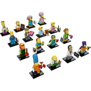Lego Simpsons Series 2 Set of 16 Minifigures 71009 Minifig Repacked Free Registered Mail Brand New Authentic