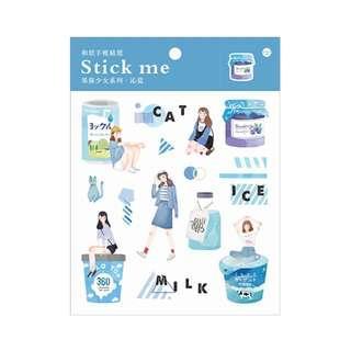 🚚 Fruit Jam [Blue] Stick Me Stickers