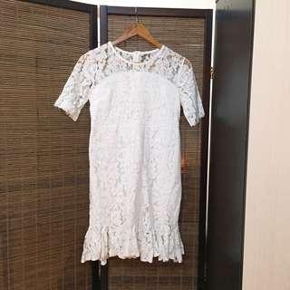 White Lace Mermaid dress