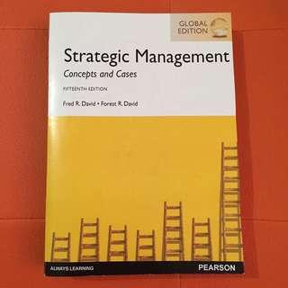 Strategic Management : Concept & Cases 15TH EDITION - Fred R. David, Forest R. David