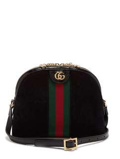 PRE-ORDER Gucci Ophidia suede and patent crossbody bag #makespaceforlove