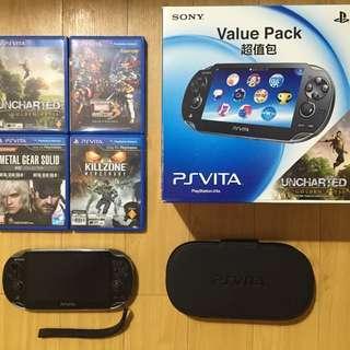 PS Vita (wifi) + Games