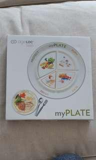 Plate with portioning