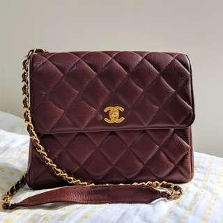 Chanel Vintage Bag Brown Caviar