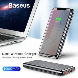 Baseus 10000mAh QI Wireless Charger Power Bank For iPhone Samsung PD + QC3.0 Fast Charging USB Power