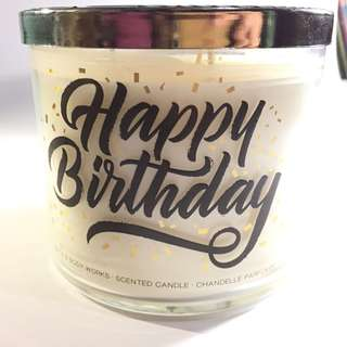 Bath Body Works Scented Candle Happy Birthday