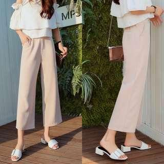🚚 pastel pink culottes